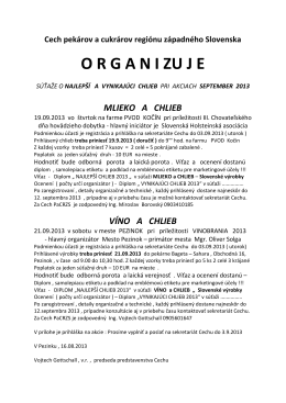 organi zu je - Cech pekárov a cukrárov regiónu západného Slovenska
