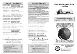 Astronomický informátor 5/2013 - Hvezdáreň a planetárium v Prešove