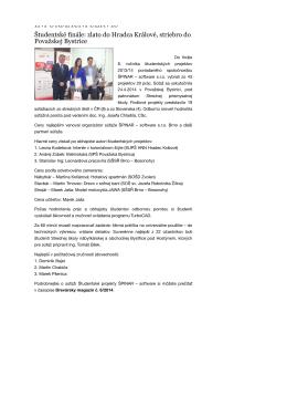 Študentské finále: zlato do Hradca Králové, striebro do Považskej
