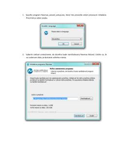 1. Spusťte program Navmax_wizard_setup.exe, ktorý Vás prevedie