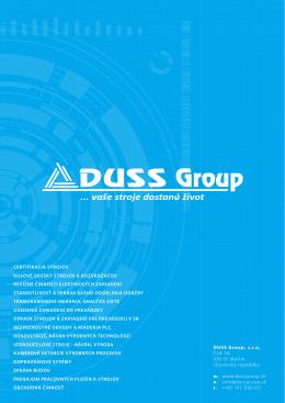 Prezentácia DUSS Group, s.r.o.