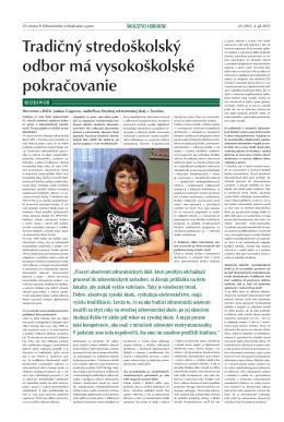 Ucitelske_noviny - Stredná zdravotnícka škola, J. Braneckého 4