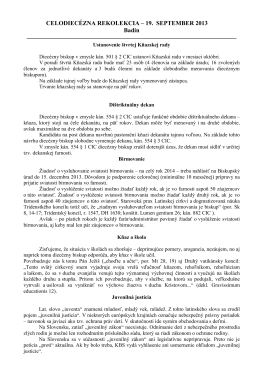 Dokument s bodmi diecézneho biskupa z rekolekcie 19. septembra