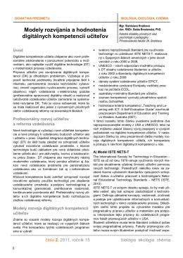 Modely rozvíjania a hodnotenia digitálnych kompetencií učiteľov