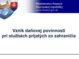 Vznik daňovej povinnosti pri službách prijatých zo zahraničia