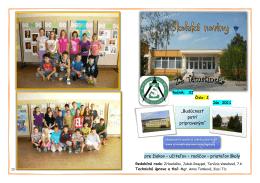 """pre žiakov – učiteľov – rodičov – priateľov školy """"Budúcnosť patrí"""