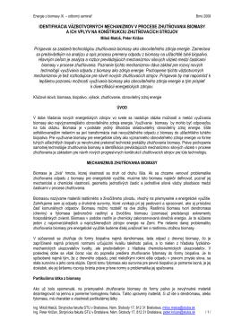 Identifikácia väzbotvorných mechanizmov v procese zhutňovania