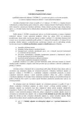 Usmernenie Likvidácia banských diel a lomov z pohľadu ustanovení