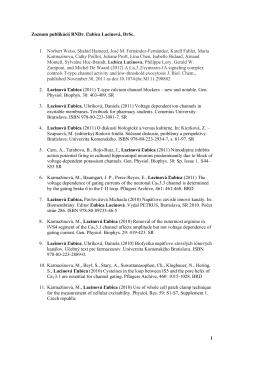 1 Zoznam publikácií RNDr. Ľubica Lacinová, DrSc. 1. Norbert Weiss