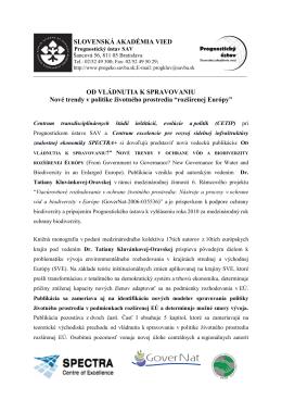 rozšírenej Európy - Prognostický ústav Slovenskej akadémie vied