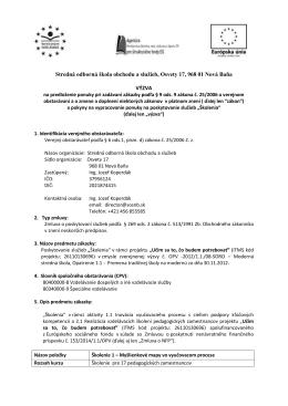 Stredná odborná škola obchodu a služieb, Osvety 17, 968 01 Nová