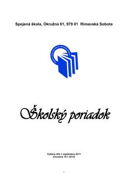 Školský poriadok_od 1.2.2012 - Stredná odborná škola technická a