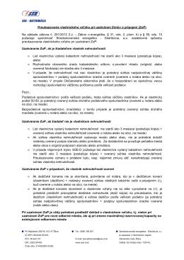 Preukazovanie vlastníckeho vzťahu pri uzatváraní Zmlúv o pripojení