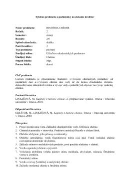 Učiteľstvo akademických predmetov, Chémia v kombinácii, Mgr., 2
