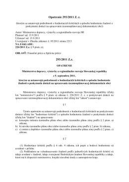 Opatrenie 293/2011 Z. z. 293/2011 Z.z.