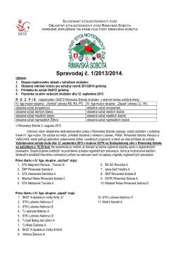 Spravodaj ObSTZ - Okresné združenie telesnej kultúry, Rimavská