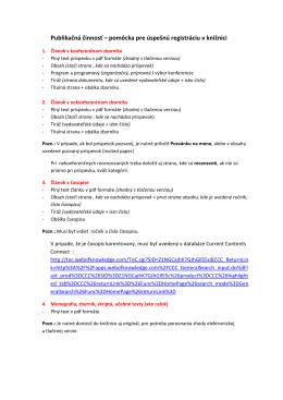 Publikačná činnosť-návod-final _2 - Evidencia publikačnej činnosti