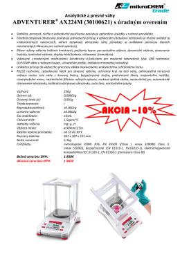 AKCIA –10% - Mikrochem