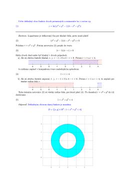 Určte definičný obor funkcie dvoch premenných a znázornite ho v