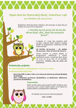 Zápis do Materskej školy v Sokoľanoch pre šk. rok 2015/2016 (*.pdf)