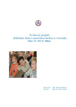Výchovný projekt (.pdf) - Základná škola s materskou školou sv