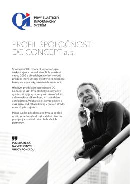PROFIL SPOLOČNOSTI DC CONCEPT a. s.