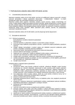 1. Profil absolventa učebného odboru 6444 2 00 čašník, servírka 1.1