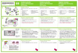Instalační příručka tiskárny HP Photosmart A510 series Inštalačná