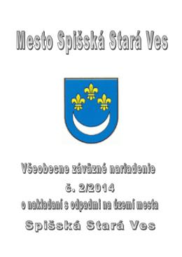 VZN č. 2/2014 o nakladaní s odpadmi na území mesta Spišská Stará