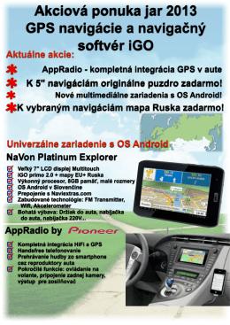 Akciová ponuka jar 2013 GPS navigácie a navigačný softvér iGO