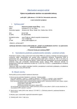 Pohonné hmoty pre autobusy MHD - Dopravný podnik mesta Žiliny sro