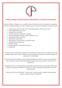 Stiahni PDF - PADALA a spol.