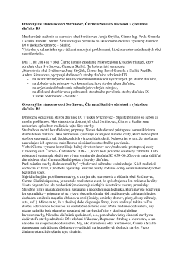 Otvorený list starostov obcí Svrčinovec, Čierne a Skalité v súvislosti