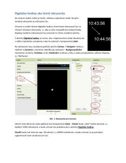 Metodický materiál Digitálne hodiny ako šetrič obrazovky. Podľa