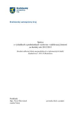 mestská časť bratislava - Stredná odborná škola masmediálnych a