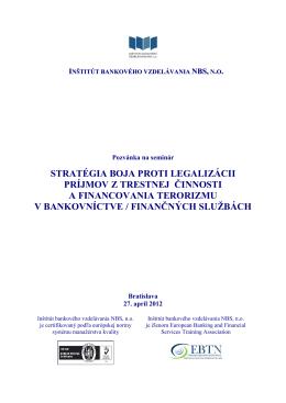 stratégia boja proti legalizácii príjmov z trestnej činnosti a