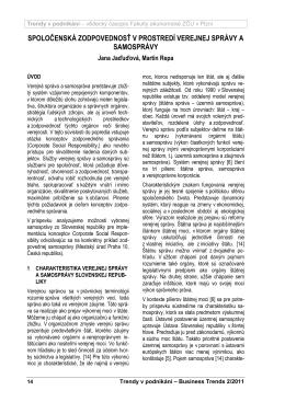 spoločenská zodpovednosť v prostredí verejnej správy a samosprávy