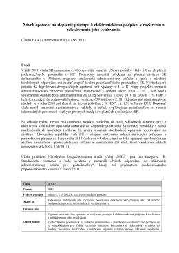 Návrh opatrení na zlepšenie prístupu k elektronickému podpisu, k