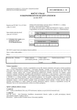 Formulár - PDF - Ministerstvo dopravy, výstavby a regionálneho