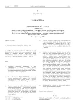 Nariadenie Komisie (EÚ) č. 115/2011 z 2. februára 2011, ktorým sa