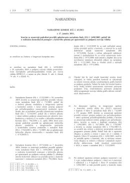 Nariadenie Komisie (EÚ) č. 65/2011 z 27. januára 2011, ktorým sa