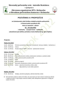 Propozície na celoslovenské kolo v Kežmarku najdete tu.