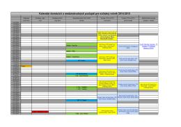 Kalendár domácich a medzinárodných podujatí pre súťažný ročník