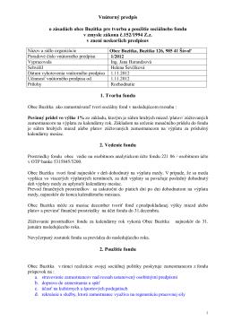 Vnútorný predpis o zásadách obce Buzitka pre tvorbu a použitie