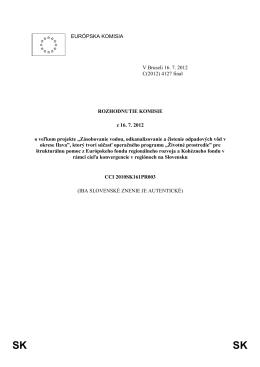 Príloha č. 3 - Považská vodárenská spoločnosť, as, Považská Bystrica