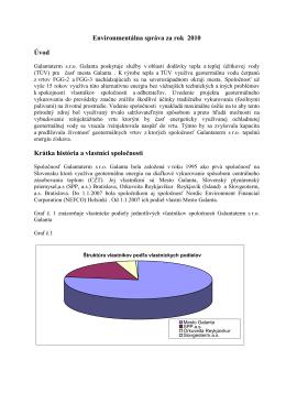 Environmentálna správa za rok 2010 Úvod Krátka história a vlastníci