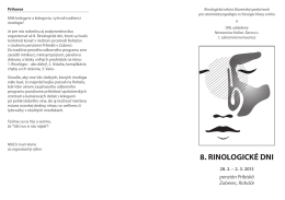 8. rinologické dni - Slovenská spoločnosť pre ORL a chirurgiu hlavy