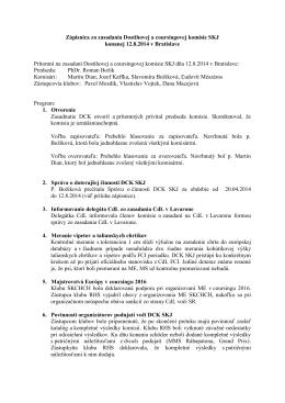 Zápisnica zo zasadania Dostihovej a coursingovej komisie - dck-skj