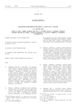 Nariadenie Európskeho parlamentu a Rady (EÚ) č. 1336/2011 z 13