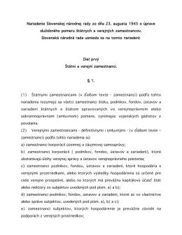 Nariadenie Slovenskej národnej rady zo dňa 23. augusta 1945 o